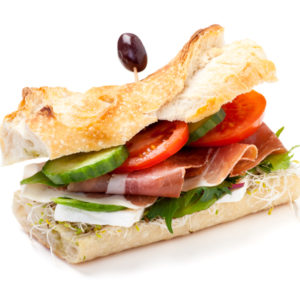Lunchsmörgås.